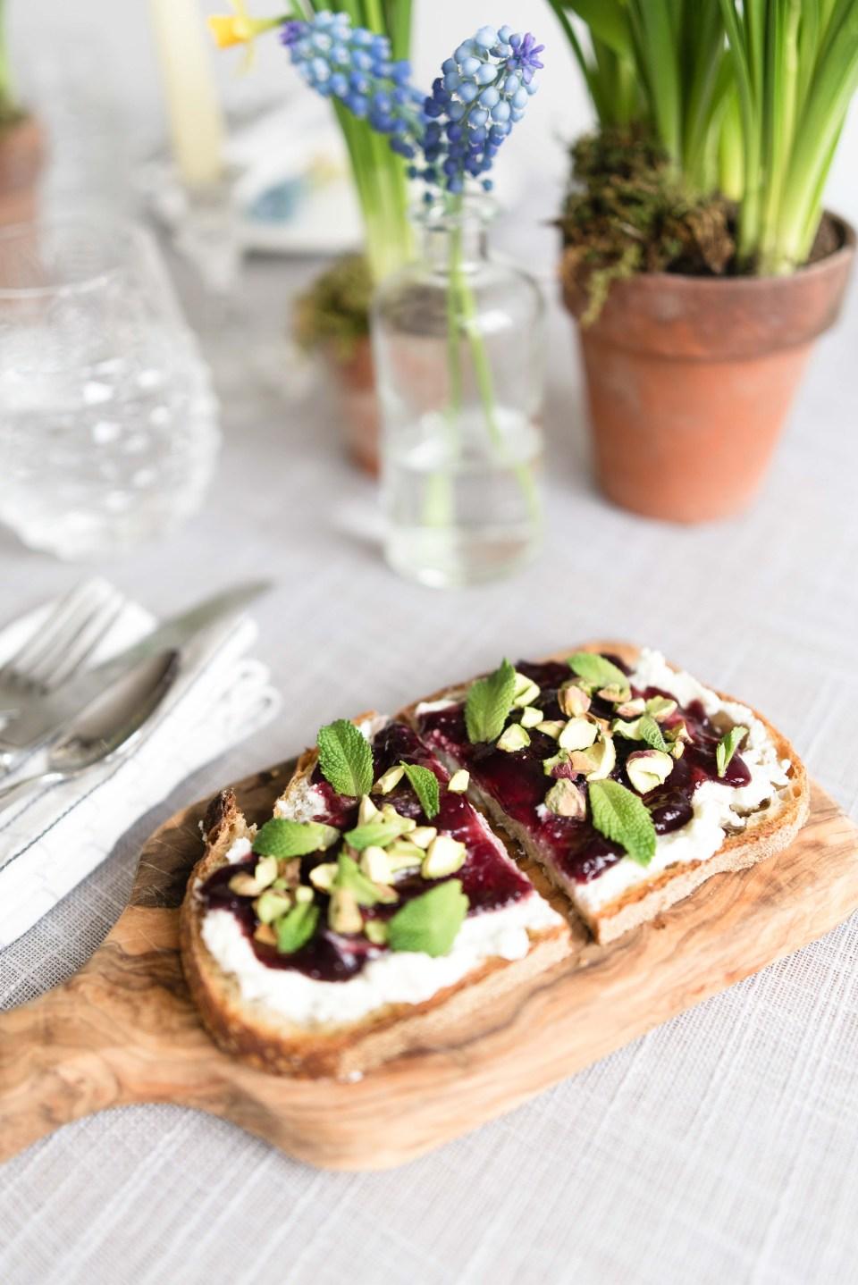 Brunch Ideas - Ricotta Toast Recipes with E.D. Smith