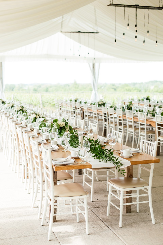 Ravine Vineyard Wedding with flowers by Niagara Wedding Florist Threads & Blooms - photo by Oak and Myrrh