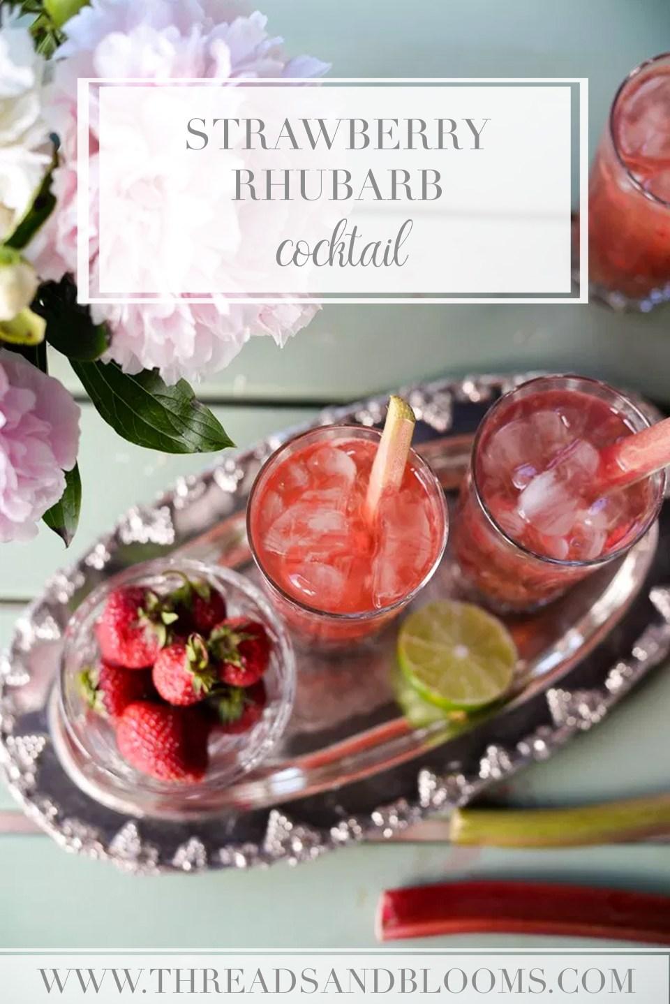Strawberry Rhubarb Recipes - Strawberry Rhubarb Cocktail