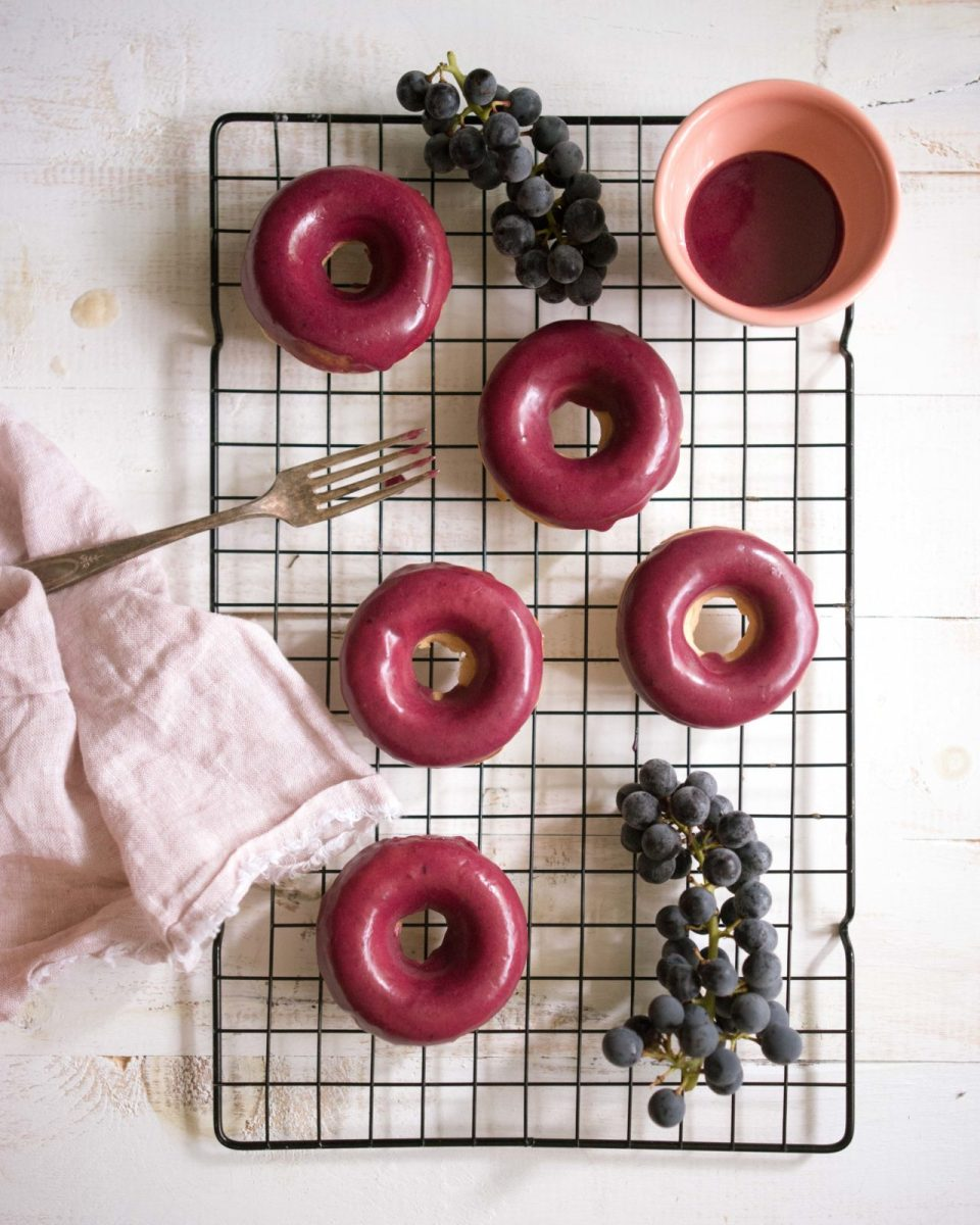 Baked Peanut Butter and Jelly Doughnuts