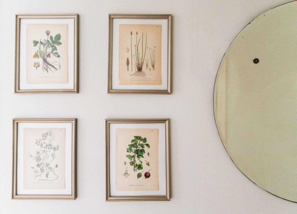 Hallway Makeover | Botanical Prints