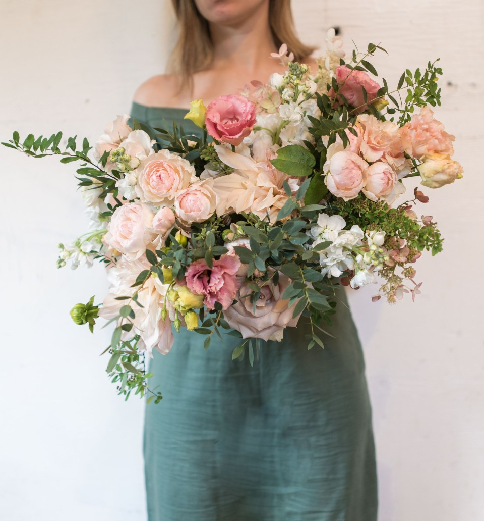 Large Pink Bridal Bouquet