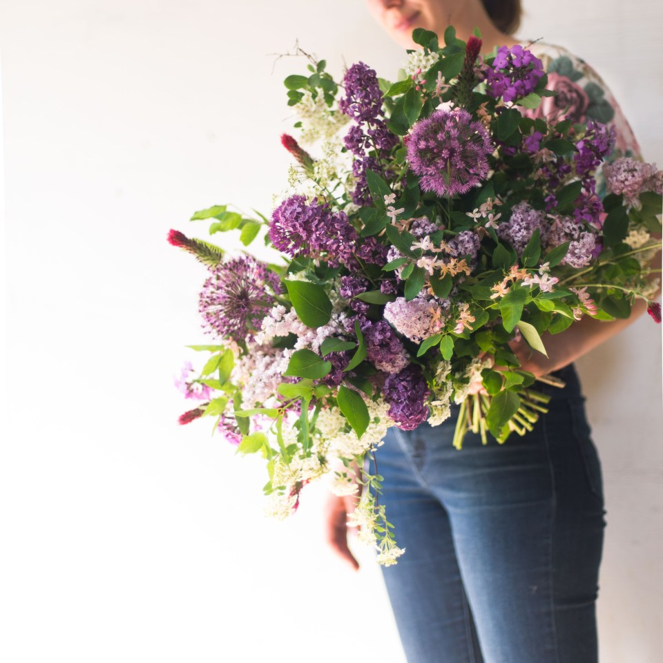 Spring Bridal Bouquet with Allium