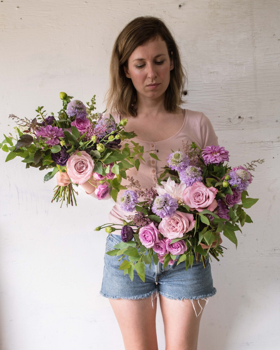 Purple Bridal Bouquets