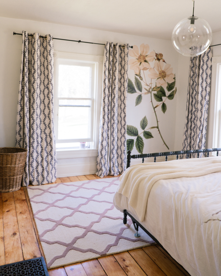 Bedroom Makeover - Huge Flowers on wall - Urban Walls Floral Decals