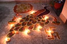 Rangoli made by Maa...