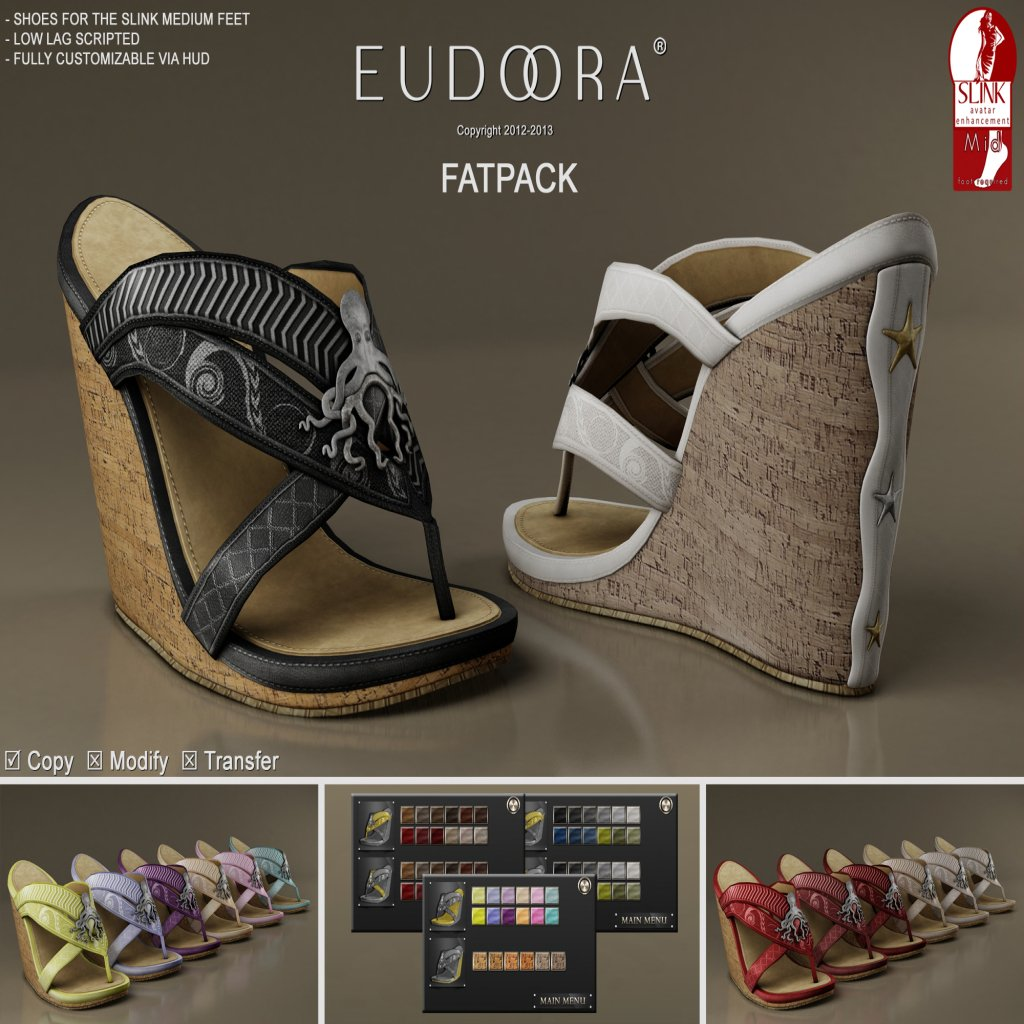 Eudora 3D Nereida Wedges (Slink Medium) Main FATPACK