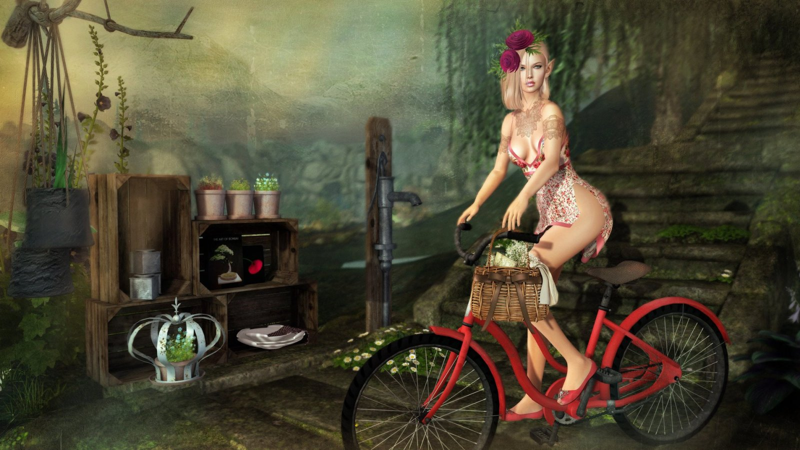 Gizz babydoll and bike