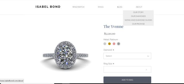 Isabel Bond Engagement Ring Yvonne- Engagement Ring Shopping Valentines Day