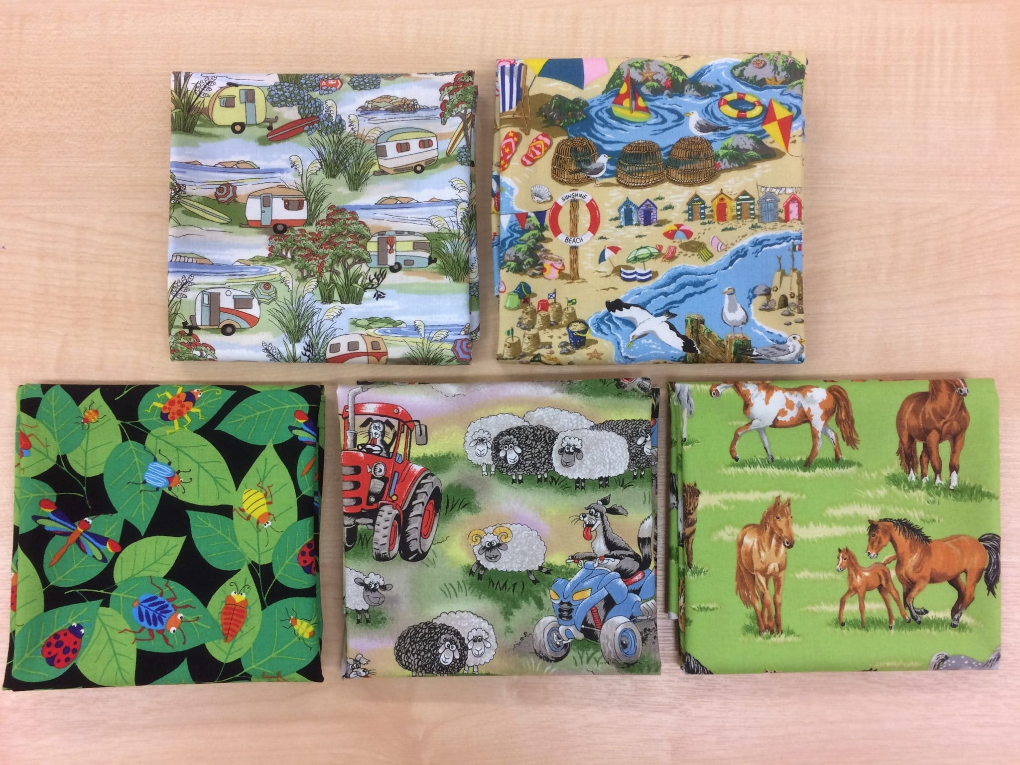 'Retro Caravans', 'The Beach', 'In the Country', Bugs and Critters', and Field Days collections from Nutex