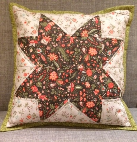 Log Cabin Patchwork Cushion