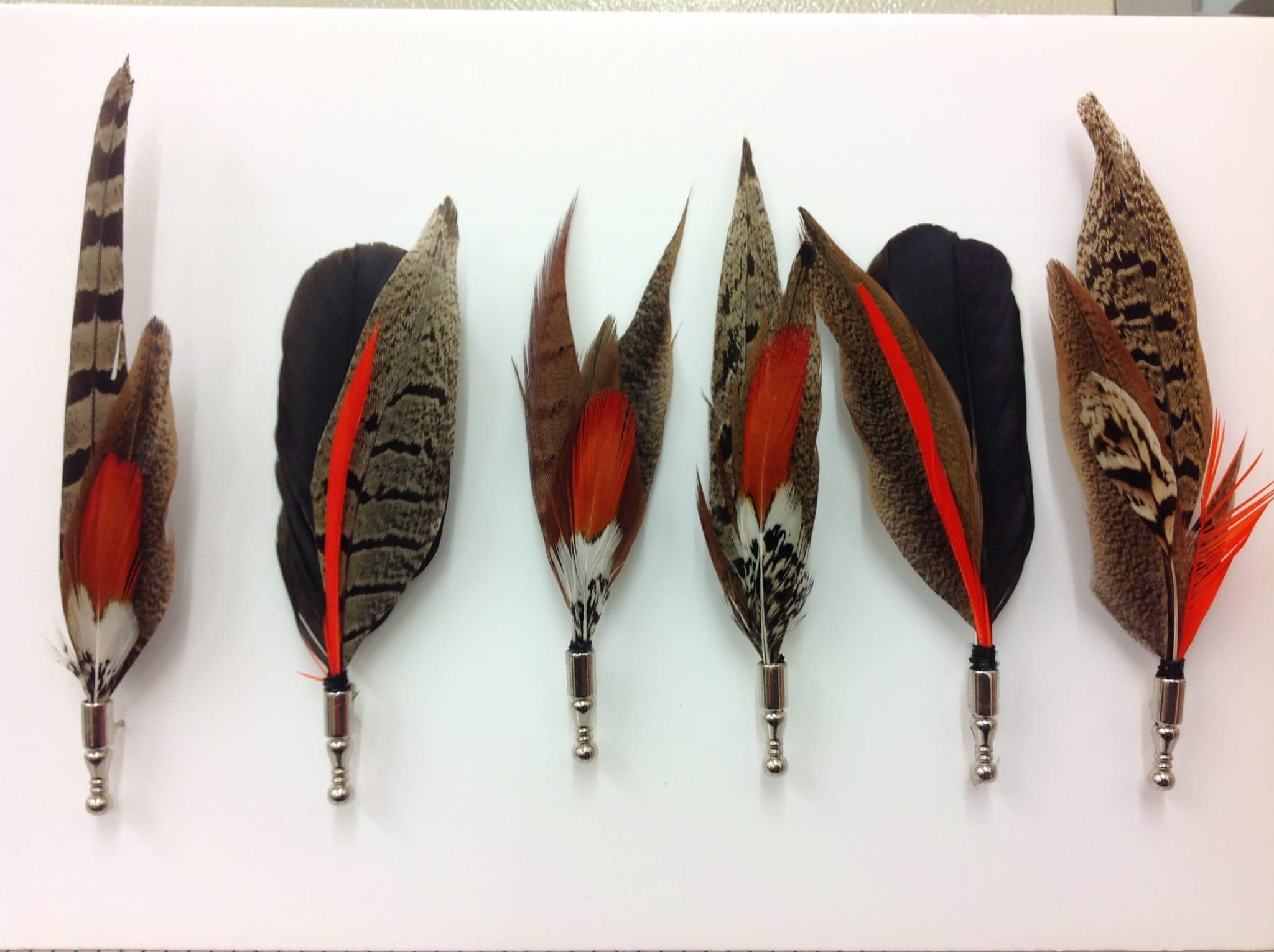 Country Feather Brooches