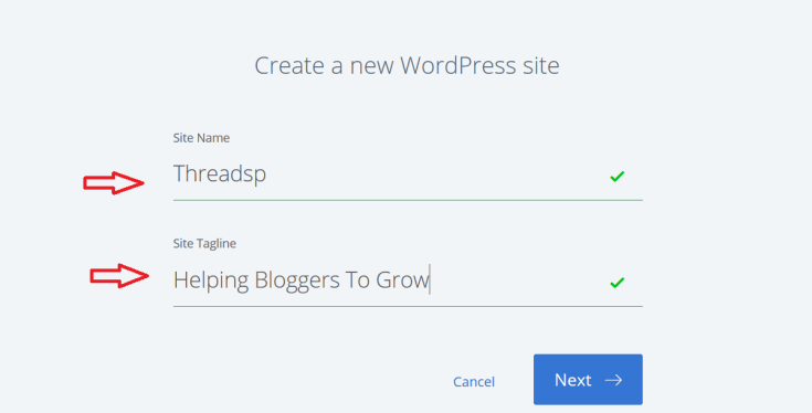 How to start a blog wordpress 1click create site
