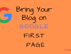 google first page threadsp feature
