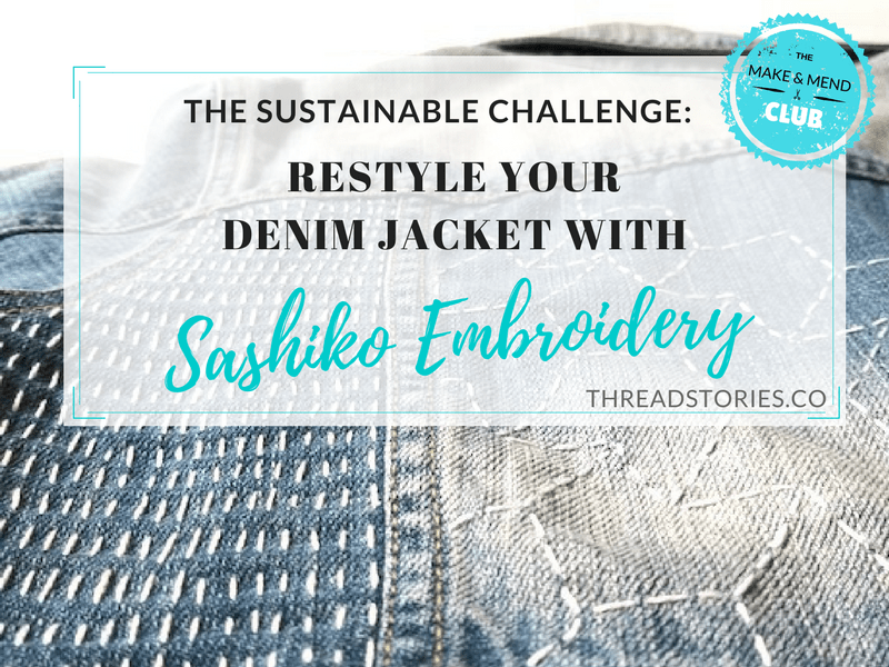 Restyle Your Denim Jacket With Sashiko Embroidery Thread Stories