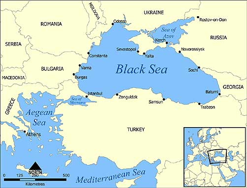 Map of Black Sea Region - ALLOW IMAGES