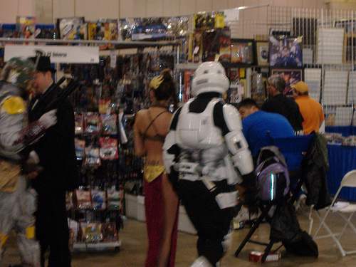 Obligatory Storm Trooper and Slave-Leia