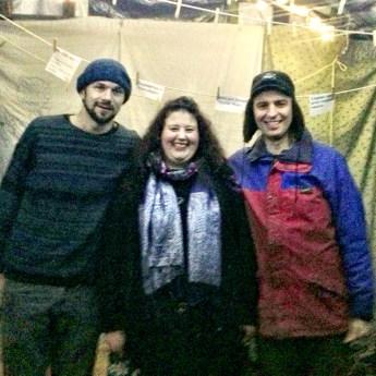Nick Hunt, Keely Mills and Robin Grey preshow at Grow Heathrow
