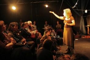 Ariane Hadjilias and a spellbound audience