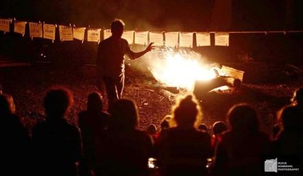 Camp fire time at Woodcraft Folk DF camp
