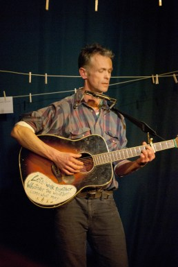 Mark Brown performed an abbreviated version of the original Diggers Song and well as demonstrating his brilliant harmonic playing