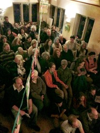 We manage to fit just over a hundred of Oxford's finest in the room. This meant taking out all of the furniture including the book-shelves, piano and fire-grate.