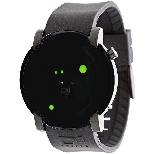 Gamma Ray Round Green LED Gun Metal Watch