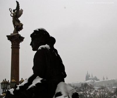 Prague Castle in winter