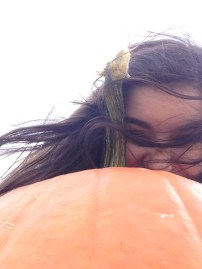 I loved my pumpkin so much that I took a selfie with it. I am not kidding when I say it was truly perfect.