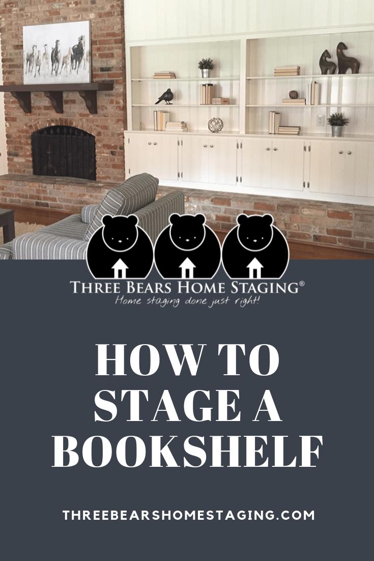 stage bookshelves