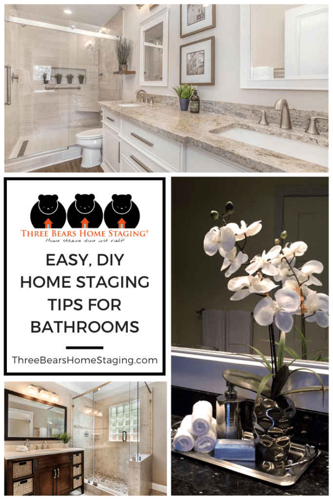 easy, diy home staging tips for bathrooms