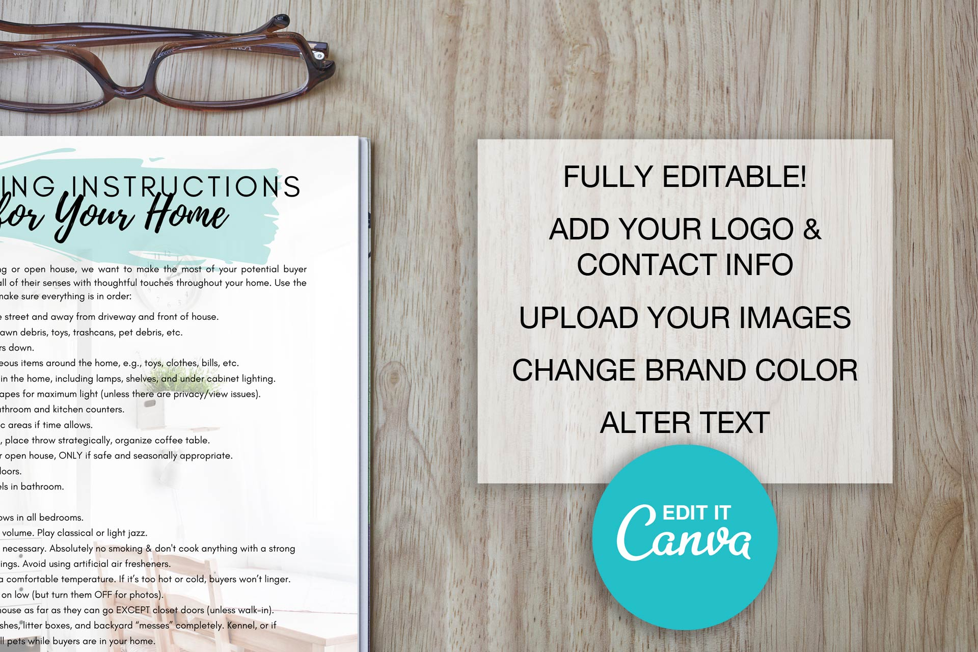 Showing Instructions Checklist Template For Canva Three Bears Home Staging
