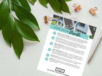 home seller etiquette template