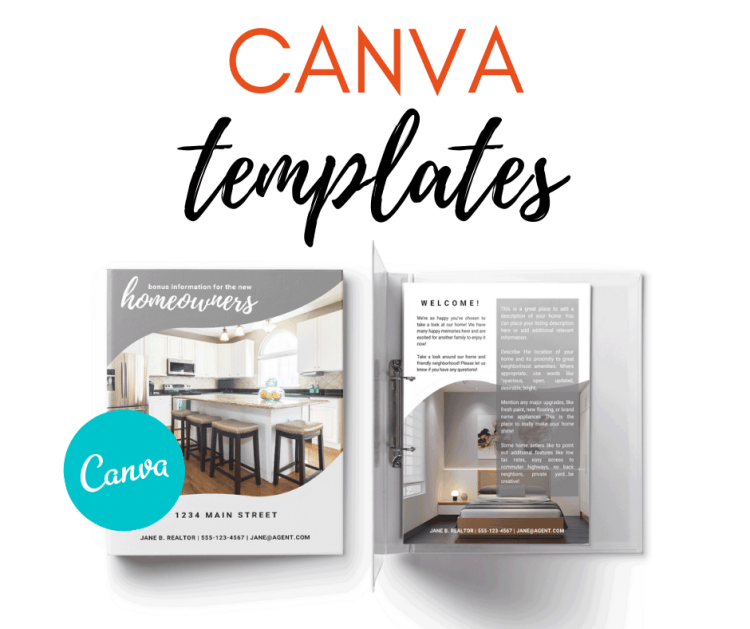 three bears home staging canva templates