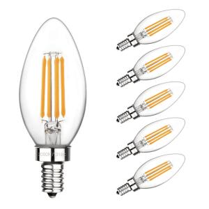 led candelabra light bulb for home staging