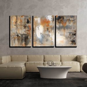 wall26 Abstract Brown and Beige Painting Canvas Wall Art