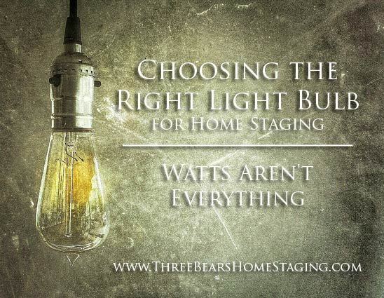 Choosing the Right Light Bulb: Watts Aren't Everything