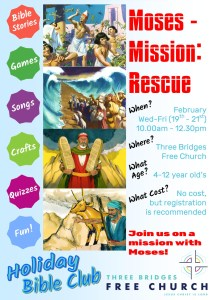 Holiday Bible Club flyer