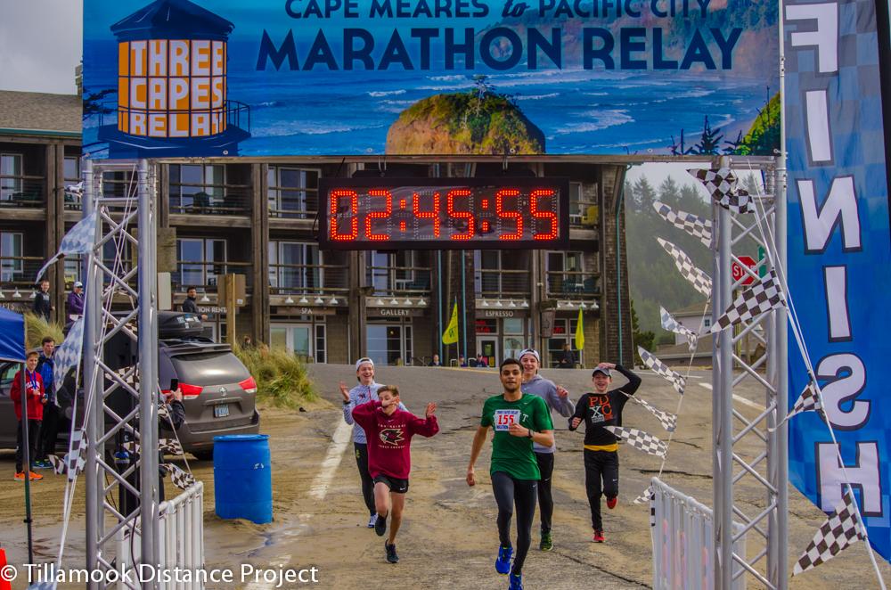 3 Capes Marathon Relay Leg Splits