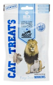 freeze dried minnow cat treats