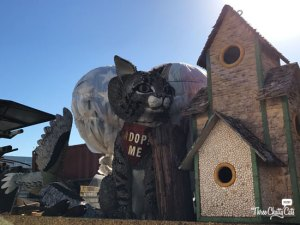 """Adopt Me"" cat, past float items from the Rose parade"