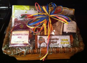 A gift basket comprised of healthy treats!