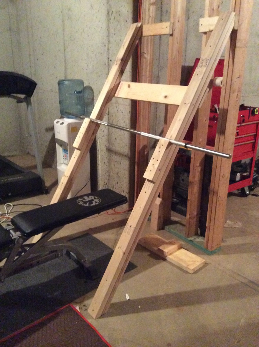 Bench Press And Squat Rack For Under 20 Three Daughter Dad