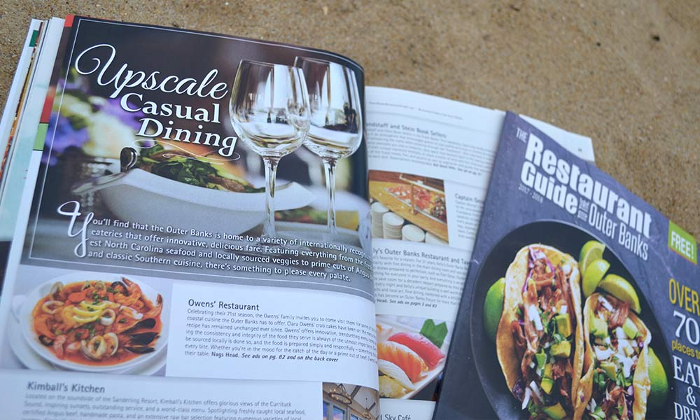 Upscale Dining OBX Restaurant Guide
