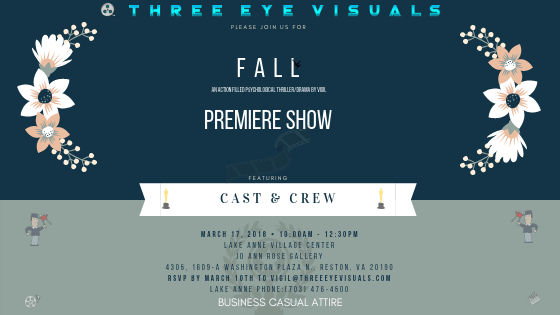 """Our maiden Short film """"FALL"""" Premiere date announced – Three"""
