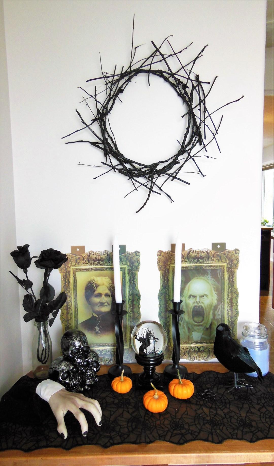 Halloween Twig Wreath DIY