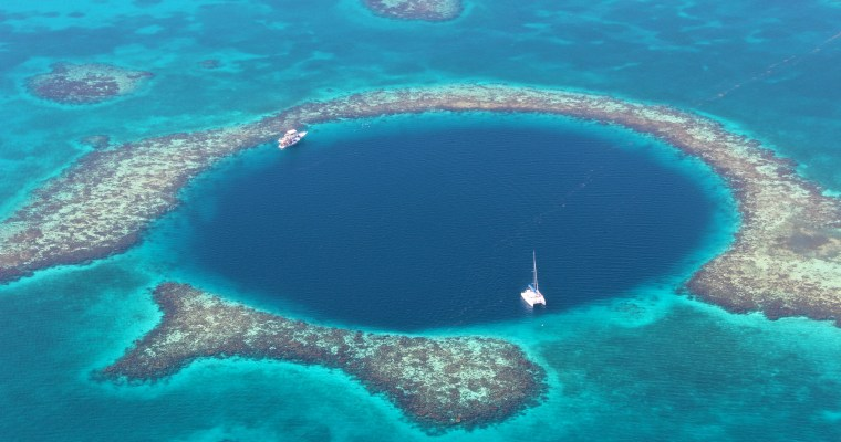 Flying Over The Blue Hole, Belize