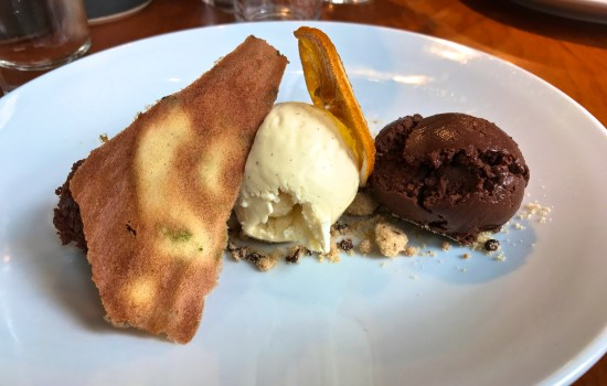 Varlhona chocolate dessert at One Elm, Stratford upon Avon