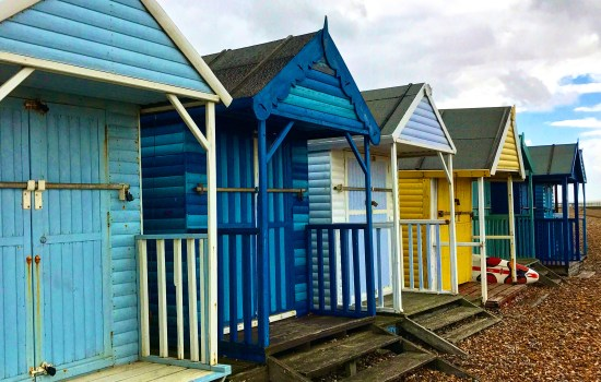 Beach huts in Herne Bay