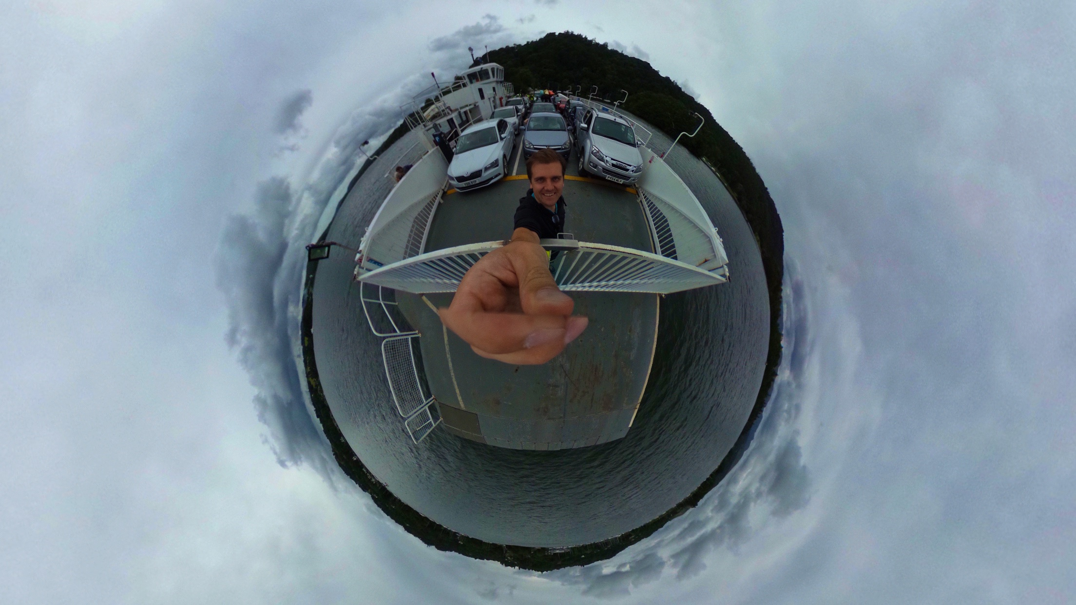 360 of crossing Lake Windermere